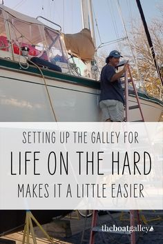 Unfortunately, sometimes we're not on the water . . . we're in the yard. Can you really live aboard and cook? Yep! Living On A Boat, The Real World, Sailing, Yard, Cook, Live, Water, Travel, Candle