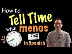 "Telling time with ""menos"" in Spanish - Explanation (Basic) - YouTube Spanish Practice, Learning Spanish For Kids, Spanish Songs, Spanish Language Learning, Spanish Lessons, Teaching Spanish, Learn Spanish, Spanish 101, Telling Time In Spanish"