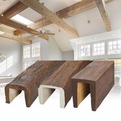 Creating faux wood beams rustic faux wood beams kitchen chronicles diy wood beams fake wood beam w x h faux wood beams an attractive Fake Wood Beams, Faux Ceiling Beams, Faux Beams, Wood Ceilings, Into The Woods, Rustic Wood, Home Remodeling, Interior Design, Decoration