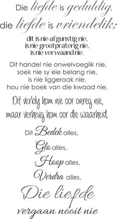 Faith Quotes, Bible Quotes, Bible Verses, Love Quotes, Inspirational Quotes, Happy Wedding Wishes, Positive Thoughts, Positive Quotes, Afrikaanse Quotes
