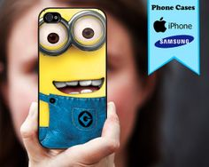 despicable me minion  Custom case For iphone 4/4s iphone 5/5S/5C samsung Galaxy S3 and S4 Case on Etsy, $14.99