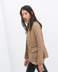 Image 3 of QUILTED JACKET WITH PIPING from Zara