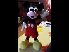 Tutorial Topolino Micky Mouse all'uncinetto parte I - Tutorial Micky Mou...