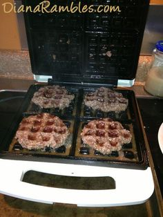 Waffle Burgers | Community Post: 25 Things You Didn't Know You Could Cook On A Waffle Iron