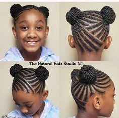 Braided Hairstyles For Black Women Cornrows, Lil Girl Hairstyles, Natural Hairstyles For Kids, Toddler Hairstyles, Mohawk Braid Styles, Braid Styles For Girls, Natural Hair Braids, Braids For Black Hair, Natural Hair Styles