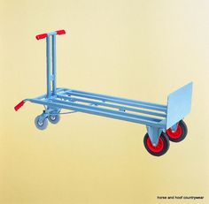 Startlingly light to handle due to its perfect balance, this is a mighty performer. Favoured by professionals. Robust steel construction. Blue enamelled body fitted with large 40cm pneumatic tyred wheels.