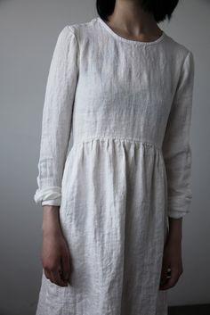 Agnès Linen Dress - Soft White