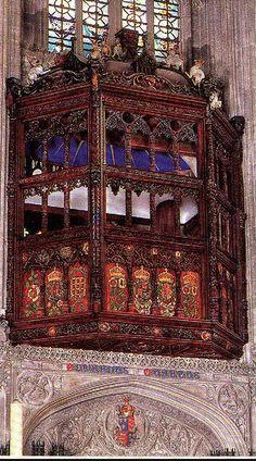 Catherine Of Aragon's balcony. St. George's Chapel.