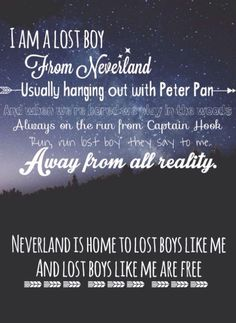 Lost boy by: Ruth b Peter Pan lost boy neverland song lyrics quotes good quotes Peter Pan quotes--this would be an amazing print by rene Song Lyric Quotes, Music Lyrics, Music Quotes, Disney Song Lyrics, Good Song Lyrics, Lost Boy Ruth B, Lost Girl, Popular Song Lyrics, Lost Boys Peter Pan