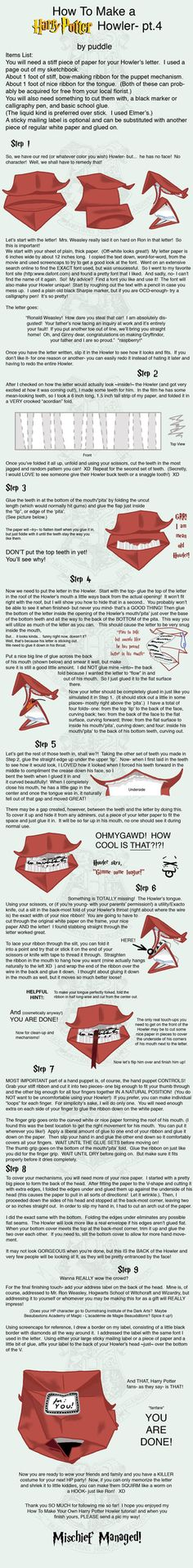 Full instructions on how to make a Howler.