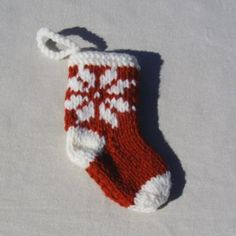 Snowflake Christmas Stocking Ornament by YarnOverTyler for $5.00