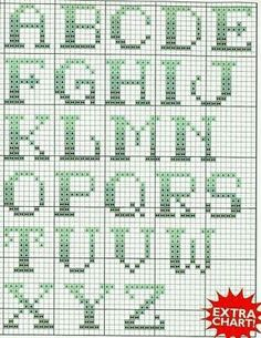 Thrilling Designing Your Own Cross Stitch Embroidery Patterns Ideas. Exhilarating Designing Your Own Cross Stitch Embroidery Patterns Ideas. Cross Stitch Letter Patterns, Cross Stitch Letters, Cross Stitch Baby, Cross Stitch Designs, Stitch Patterns, Crochet Alphabet, Crochet Letters, Learn Embroidery, Cross Stitch Embroidery