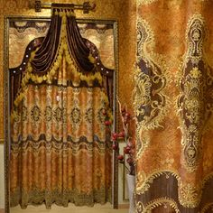 Old School World Victorian Curtains Draperies Drapes