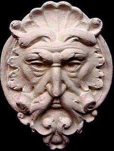 Gothic Mythical Face Mask Triton Wall Plaque Home Garden Decor Sculpture