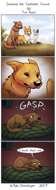 Ichabod the Optimistic Canine :: Too Real | Tapastic Comics - image 1