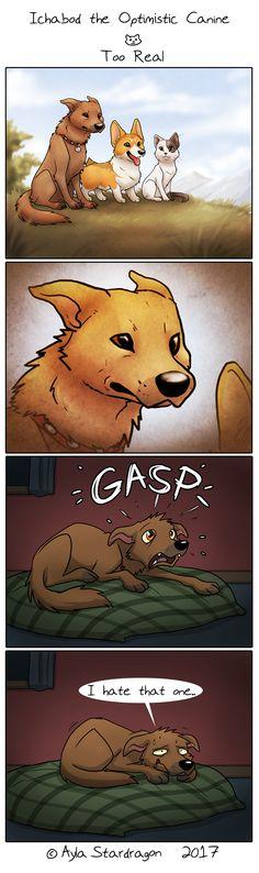 Ichabod the Optimistic Canine :: Too Real | Tapastic Comics - image 1