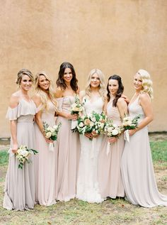 5972752563fcd A Fashion Stylist's European Inspired Wedding at Villa Del Sol D'Oro,  nuetral bridesmaid