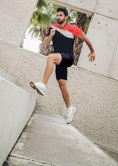 Dreifarbiges Sport–Shirt COOLMAX Powerred  von TRIGEMA