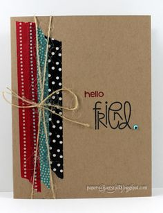 use washi-tape! cards