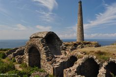 The arsenic labyrinth at Botallack, Cornwall.  Arsenic, present as impurities in the tin ore, condensed in the flues and the pure arsenic was shovelled out (carefully!) by hand.