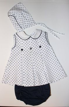 Black and white Little Dresses, Little Girl Dresses, Cute Dresses, Baby Dress Patterns, Baby Sewing, My Baby Girl, Kids Wear, Toddler Girl, Doll Clothes