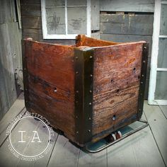 Is this a bit much for a laundry cart? But I really love it! Reclaimed Vintage Industrial Angle Iron by IndustrialArtifact, $325.00