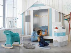 little boy surfer room | surf shack! Love this beachy boys' room! | via http://www ...