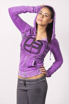 Comfy all day in this purple and grey sweats outfit, zip up hoodie, Joshua Perets, JP 1964 Girl Fashion, Fashion Outfits, Fashion Trends, Sweats Outfit, Urban Looks, Color Mixing, Zip Ups, Fabrics, Comfy
