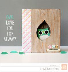 Altered Owl Mini Album | Lisa Storms  Card inspiration!
