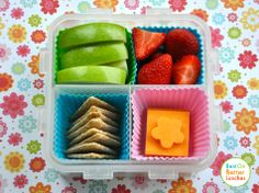 We eat with our eyes. This is a simple idea for making a simple snack look delicious. #BackToSchool