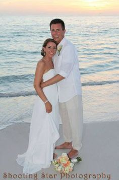 Jennifer & Rodney, married at Tortuga! What a wonderful place to have a wedding. Courtesy of Shooting Star Photography. Star Photography, Anna Maria Island, Boat Dock, Island Resort, White Sand Beach, Beach Resorts, Wonderful Places, Real Weddings, White Dress