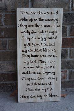 They Are My Children They Are My Kids Wooden Sign by krazydaizy, $39.00