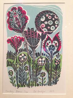 Zoe Badger (Lino print)