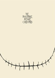 Affiche minimaliste du film de Tim Burton The Nightmare Before Christmas = L'étrange Noël de M. Jack