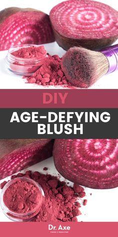 DIY Age-Defying Blush … with Beets! - - DIY Age-Defying Blush … with Beets! Piel Natural, Natural Skin, Blush Makeup, Diy Makeup, Organic Beauty, Organic Skin Care, Natural Beauty, Organic Makeup, Diy Beauty