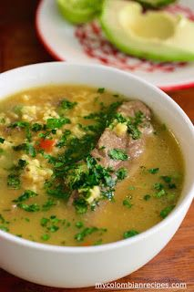 Sopa de Arroz con Costilla (Pork Ribs and Rice Soup) photography Kitchen Recipes, Soup Recipes, Cooking Recipes, Healthy Recipes, Mexican Dishes, Mexican Food Recipes, Ethnic Recipes, Colombian Cuisine, Colombian Recipes