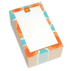 Aqua Pretty Blooms Chunky Notepads