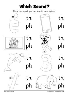 First Grade Phonics Worksheets: 'Th' Words: A Word Family