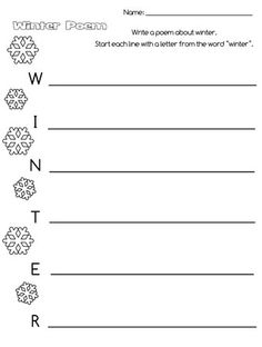 Free Writing Templates For Acrostic Poems  Google Search