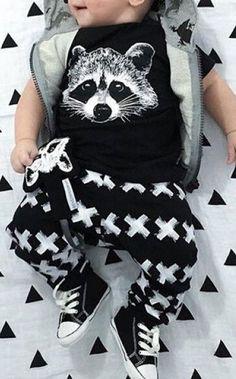 racoon baby set