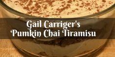 Miss Gail Cooks with Tea: Pumpkin Chai Tiramisu - Gail Carriger