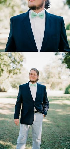Love the shot of the Handsome Groom before the big day!