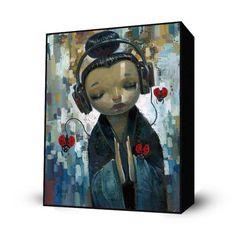 She Had Her Sources Mini Art Block By: Aaron Jasinski - The Incredible Art Gallery