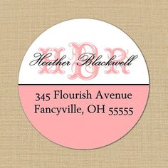 Fancy Monogram   Custom Address Labels or by PoshGirlBoutique, $5.50
