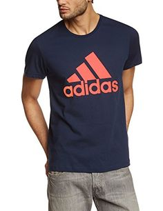 adidas Herren T-Shirt Essentials Logo, Collegiate Navy, M, S23017