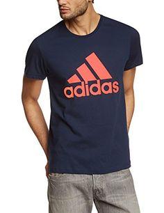 adidas Herren T-Shirt Essentials Logo, Collegiate Navy, M, S23017