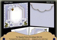 Blue Magnolia Fancy 7x7inch Easy Envelope Mini Kit on Craftsuprint - Add To Basket!
