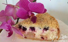 Творожный пирог с нектаринами | Кулинарные рецепты от «Едим дома!»
