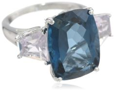 Sterling Silver London Blue Topaz, Rose De France and Diamond 3-Stone Ring, Size 7 Amazon Curated Collection http://www.amazon.com/dp/B00DGOZJTY/ref=cm_sw_r_pi_dp_d7W5tb1S3Z8DY