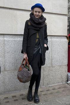 Moda streetowa: modelki w Londynie, fot. Imaxtree